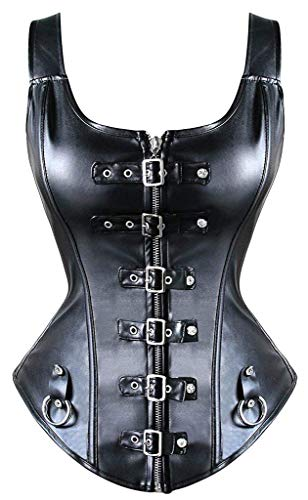 """Sabrina"" - Buckle-up Corset Top - OMGoth - My Gothic Shop"
