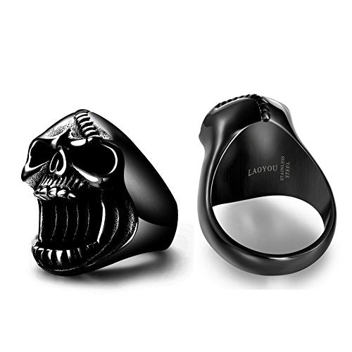 """Niceta"" - Skull Beer Bottle Opener Ring - OMGoth - My Gothic Shop"