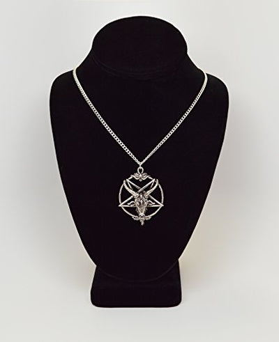 """Nisha"" - Baphomet Inverted Pentagram Necklace - OMGoth - My Gothic Shop"