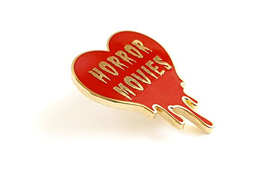 I Heart Horror Movies Enamel Pin