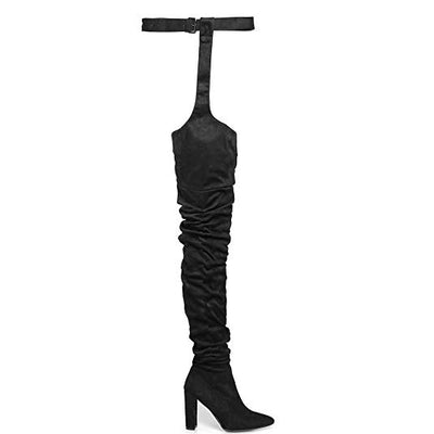 """Leviathan"" - Thigh High Boots-Shoes-OMGoth Shop"