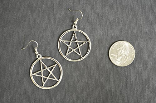 """Omisha"" - Pentagram Dangle Earrings"