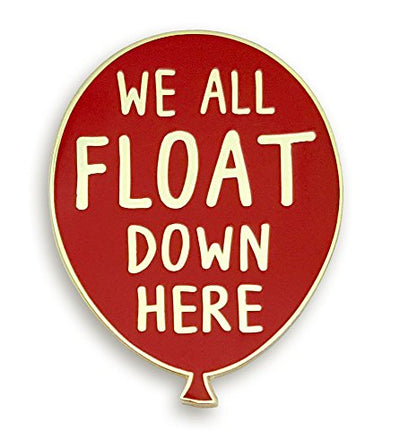 """We All Float Down Here"" Red Balloon Enamel Pin"