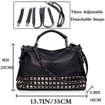 """Tizane"" - Studded Leather Bag - OMGoth - My Gothic Shop"