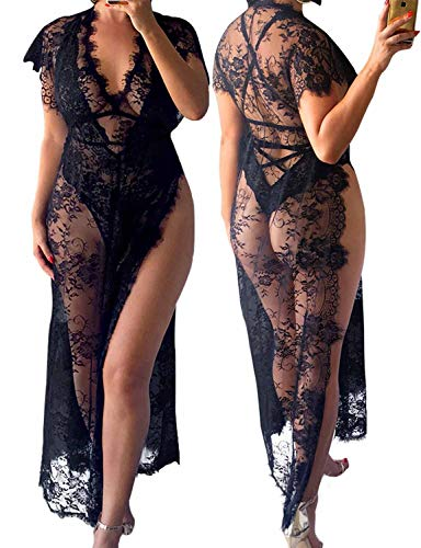 """Constance"" - Lace Plus Size Swimsuit Coverup"