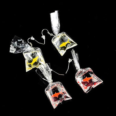 """Ryba"" - Goldfish Dangle Earrings - OMGoth - My Gothic Shop"