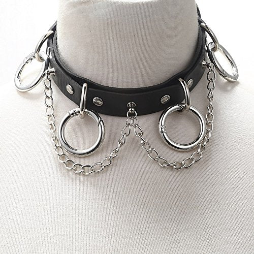 """Kalonice"" - Statement Choker with Chain - OMGoth - My Gothic Shop"