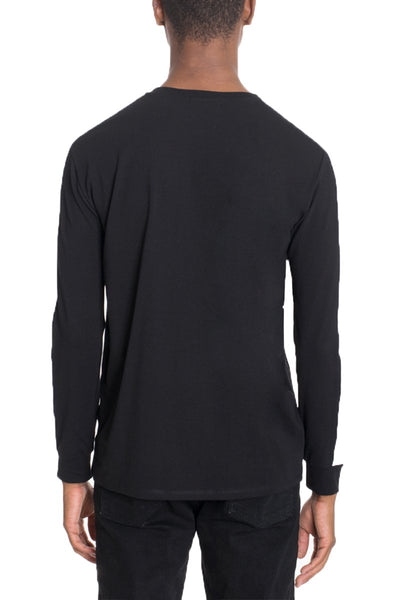"""Edmund"" - Side Stripe Long Sleeve Shirt - BLACK/WHITE - OMGoth - My Gothic Shop"