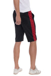 """Victor"" - Side Stripe Track Shorts - Black/Red - OMGoth - My Gothic Shop"