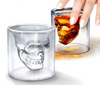 """Drinketh Damnation"" Series Crystal Skull Shot Glass"
