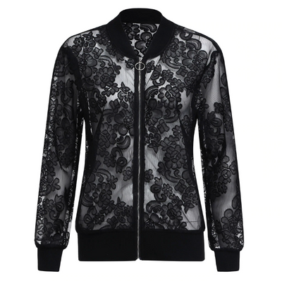 """Anabel"" - Plus Size Lace Jacket"