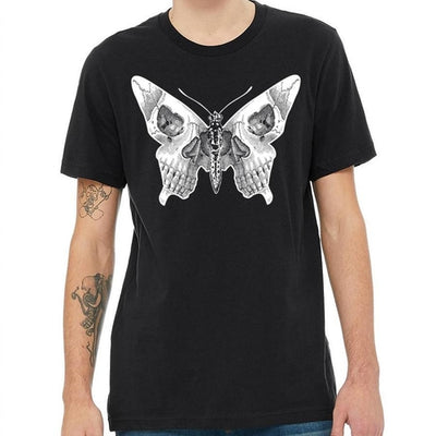"""Keenan"" - Skull Butterfly T-Shirt - OMGoth - My Gothic Shop"