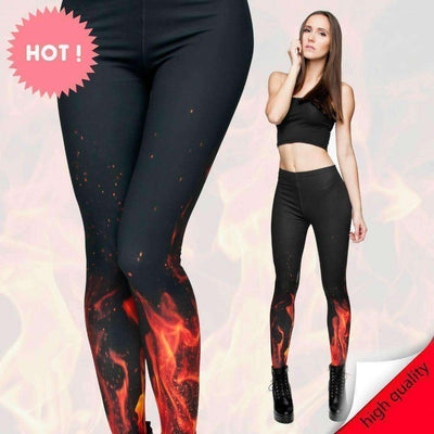 "OMGoth - My Gothic Shop leggings ""Leandra"" - Blaze Fire Leggings"
