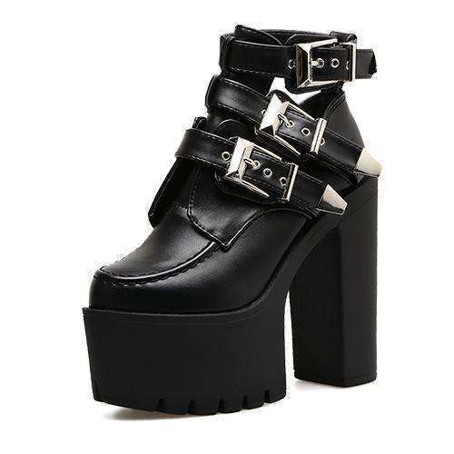 "OMGoth - My Gothic Shop Shoes ""Laura"" - Ankle Boots"