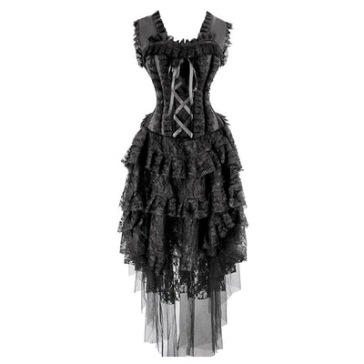 """Rosetic"" - Gothic Bustier Corset Dress"