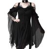 """Mazelina"" -  Off Shoulder Ruffle Sleeves Gothic Dress"