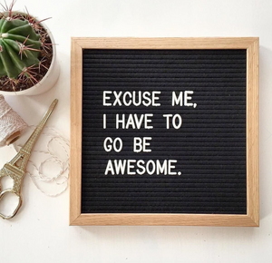Letter Board - The Ultimate Accessory