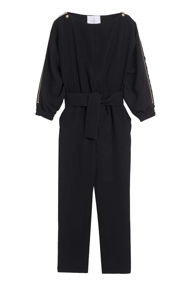 CAROLE 1980 - Flowing pants jumpsuit - Red or Black