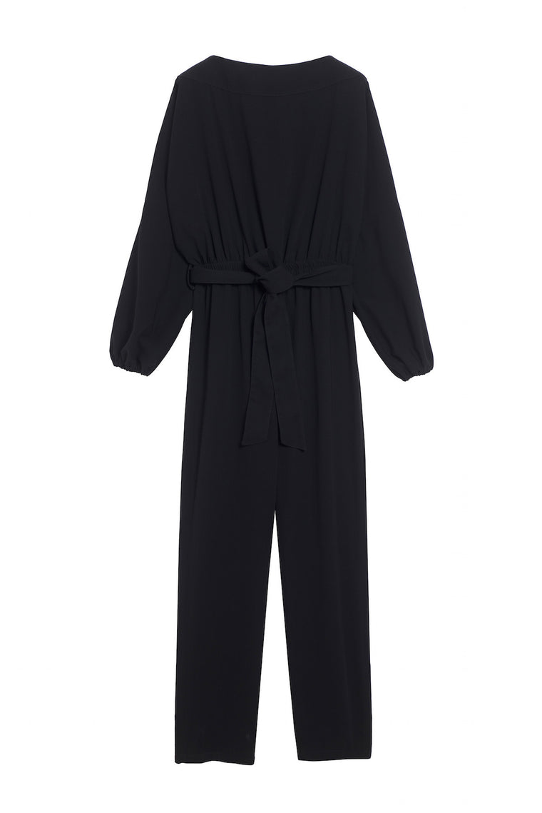 FAUSTINE 1980 - Low back pants jumpsuit - Black
