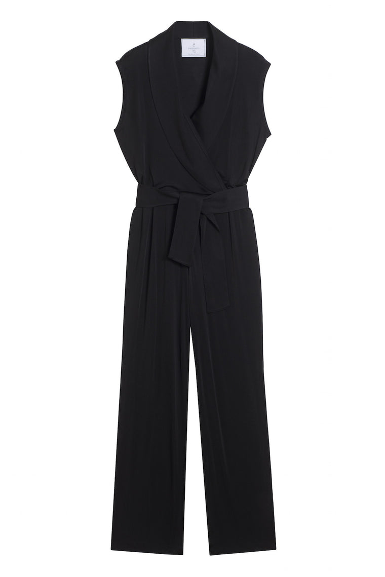FELICIE 1990 - Drap wrap pants jumpsuit - Black