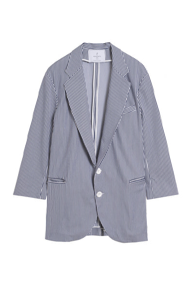 striped long blazer jacket