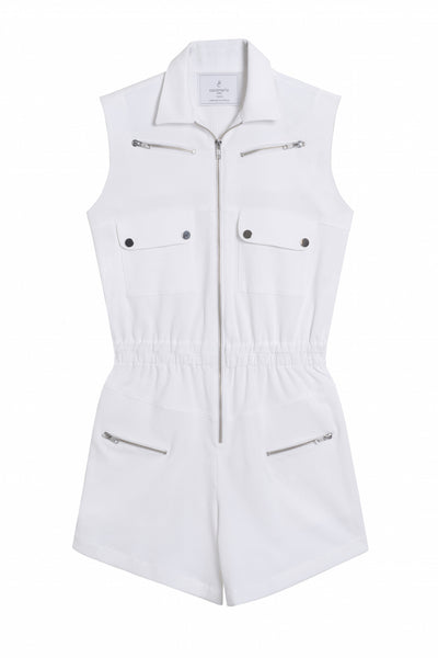 white cotton short romper