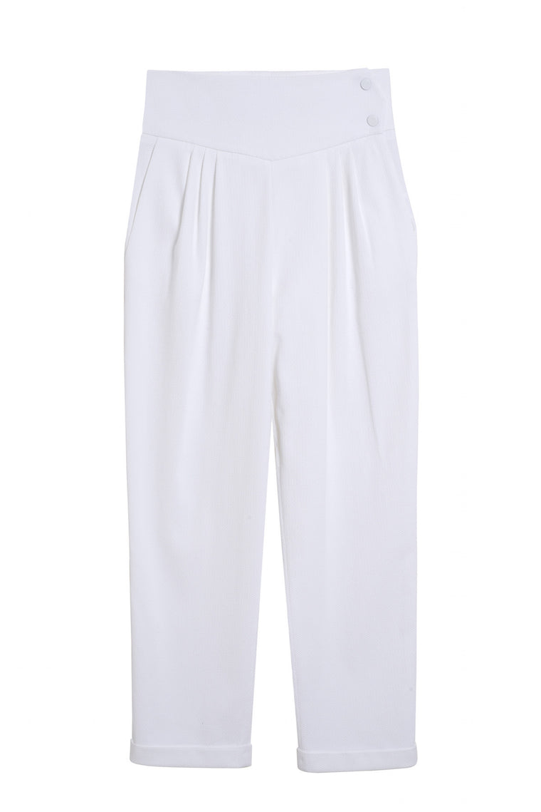MICKAEL 1990 - Cotton carrot pants - White