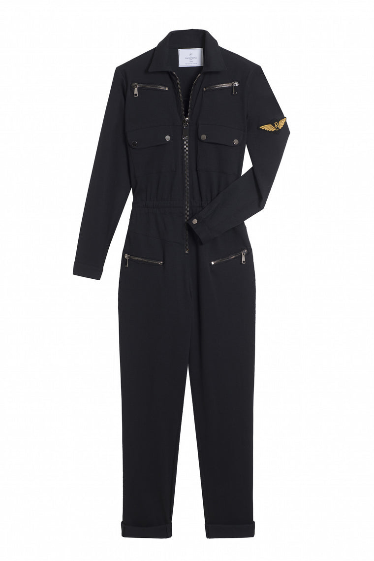 NIKITA 1990 - Long sleeve pants jumpsuit - Black