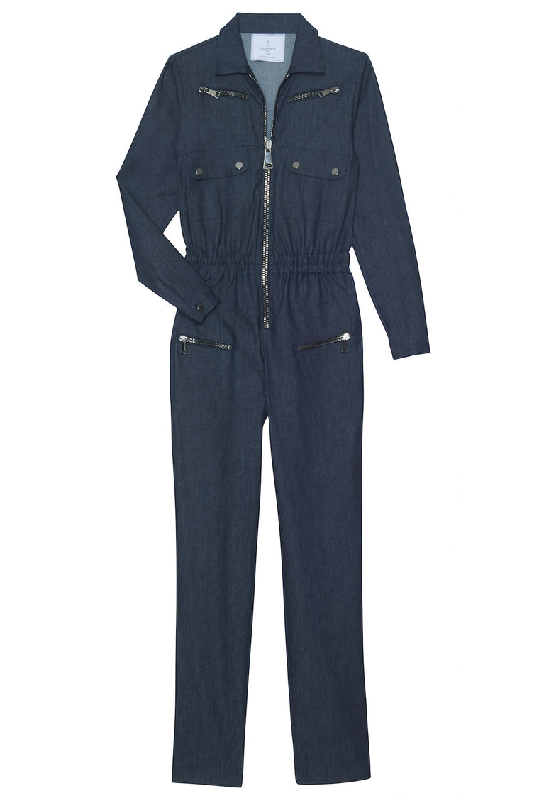 NIKITA 1990 - Jean pants jumpsuit - Navy blue