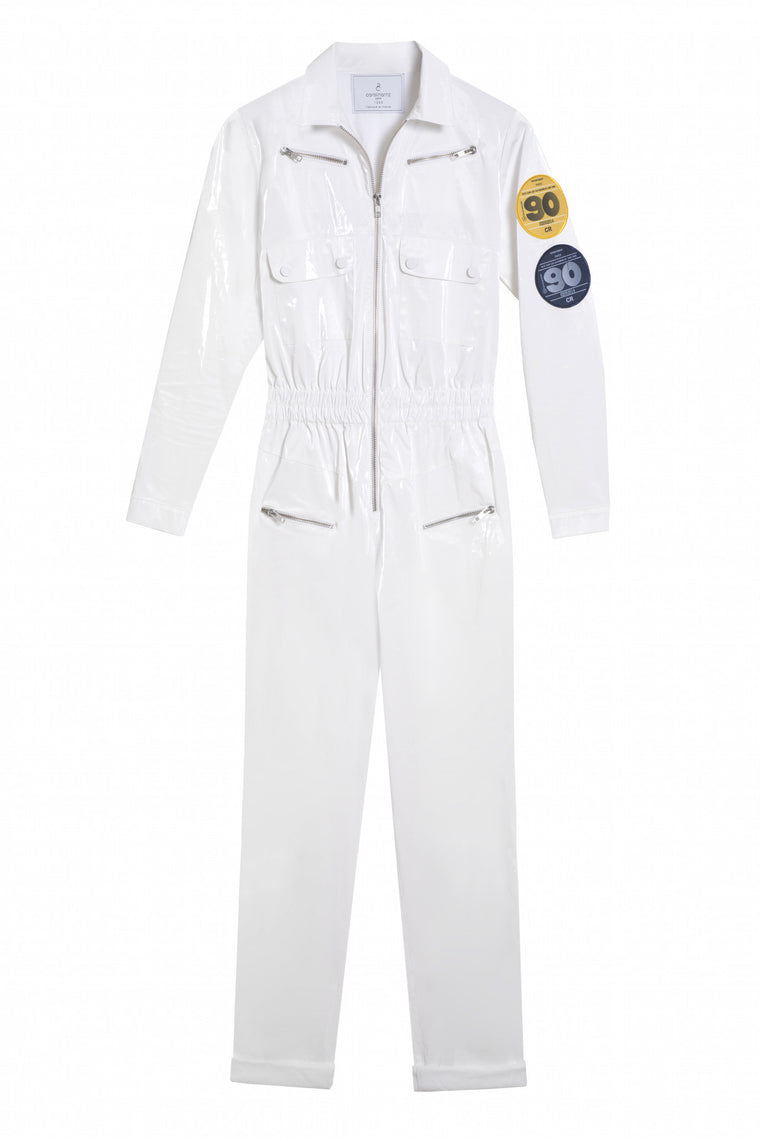 NIKITA 1990 - Long sleeve vinyl pants jumpsuit - White