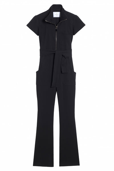 evening black pants jumpsuit