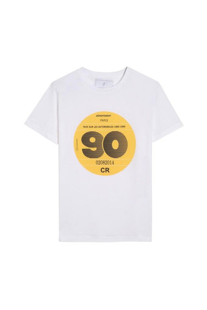 T-SHIRT 1990 - Cotton t shirt 90s style - White