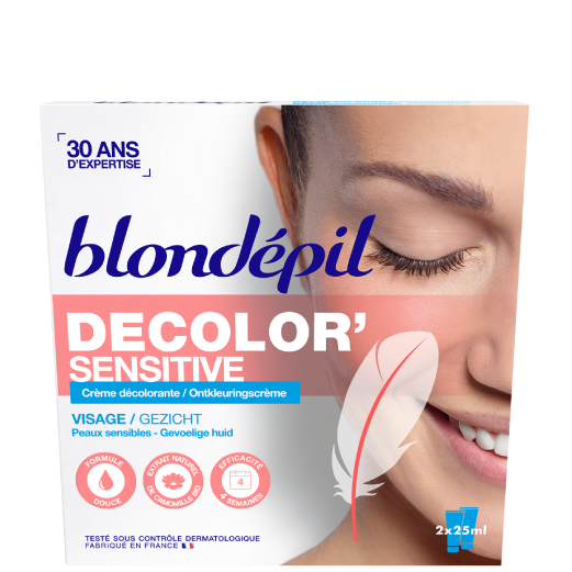 Décolorant DECOLOR'SENSITIVE Visage - PEAUX SENSIBLES - Blondépil