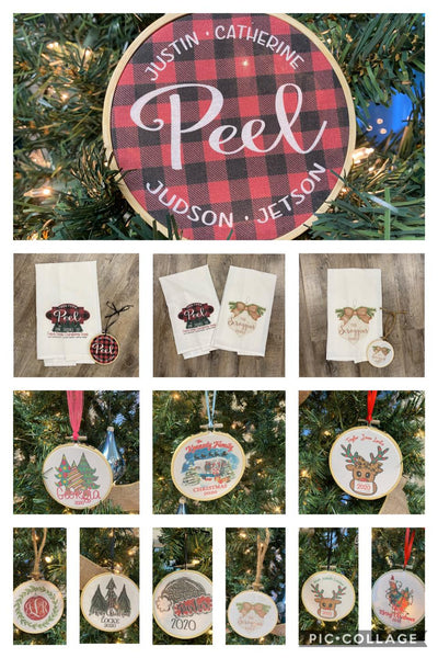 Christmas Tea Towels and Ornaments