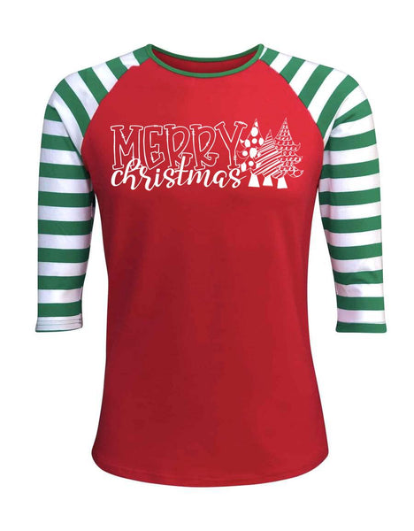 Merry Christmas Red Raglan