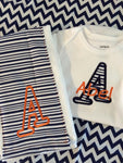 Auburn Baby Gift Set (Includes Onesie and Burp Cloth)
