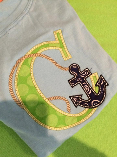 Alphabet with Anchor Applique Shirt