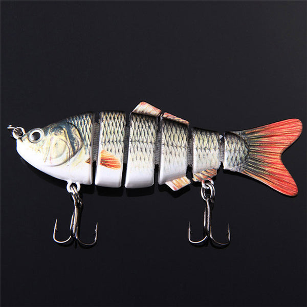 FREE Fishing Lure Six Segments 6 hooks 3,94 inches 0,63 oz