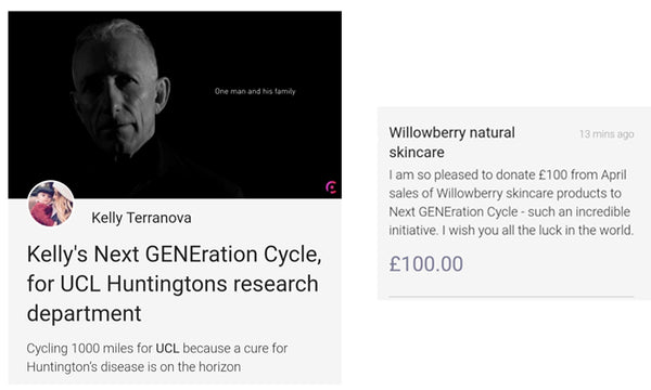 Charity donation: Next GENEration Cycle