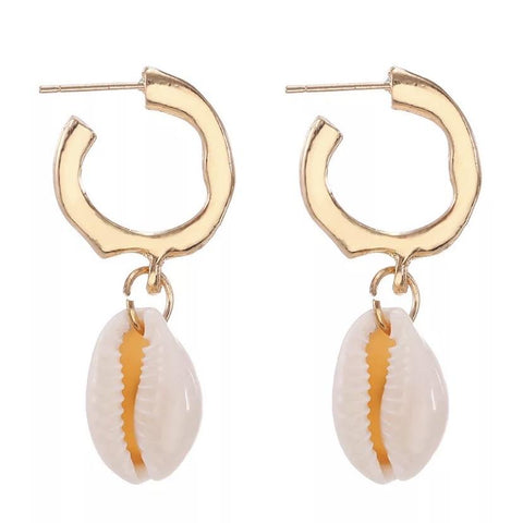shell earrings, hoop earrings, stocking filler gifts