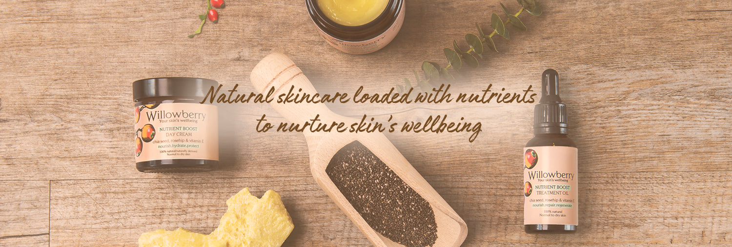 willowberry natural skincare is loaded with nutrients for skin's wellbeing