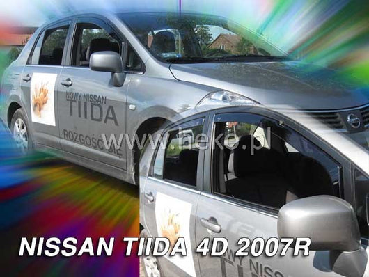 Wind Deflectors - Nissan Tida 4d 2007r→ (+OT) sedan