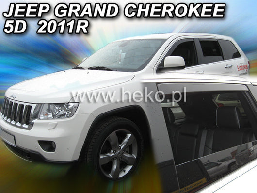 Wind Deflectors - Jeep Grand Cherokee 5d 2011r.→ (+OT)