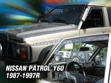 Wind Deflectors - Nissan Patrol GR Y-60 5d 1987-1997r. (+OT) (ver. with the electric mirror)