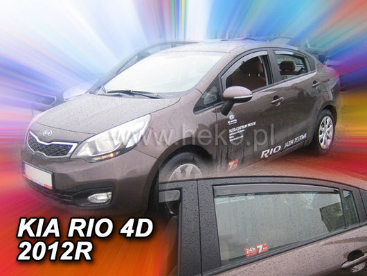 Wind Deflectors - Kia Rio 4d 2011r.→(+OT) sedan