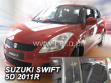 Wind Deflectors - Suzuki Swift 5d 11/2010r.→(+OT)