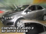 Wind Deflectors - Chevrolet Aveo 4d 2011r→ (+OT) sedan