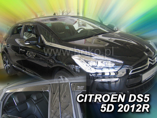 Wind Deflectors - Citroen DS5 5d 2012r→(+OT)