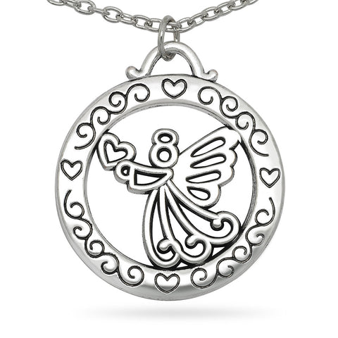 Katie's Style Moms Are Angels in Disguise Message Guardian Angel Reversible Pendant Necklace