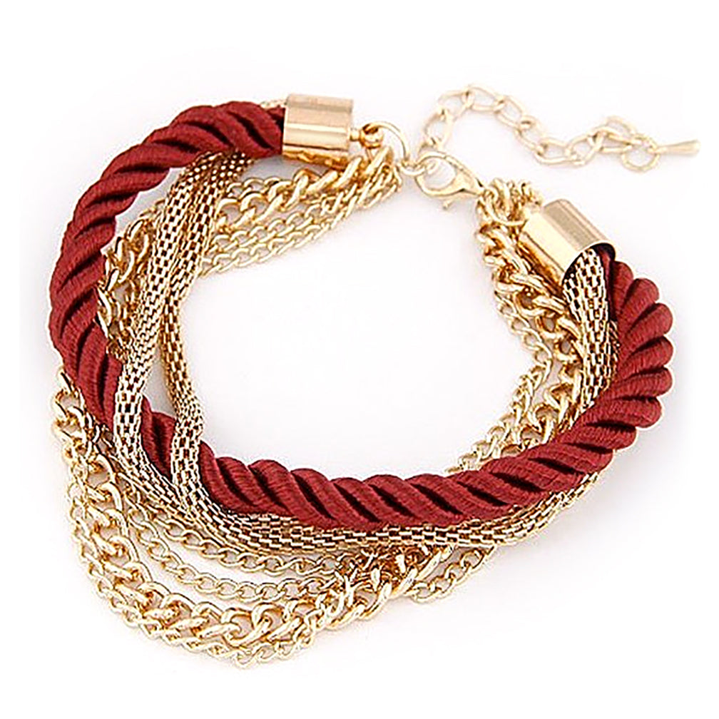 gold watches rope free today twisted necklace yellow solid product chain jewelry shipping braided overstock link